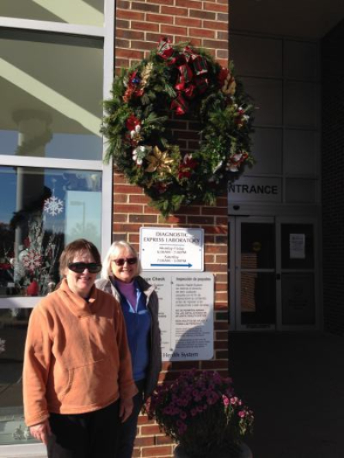 Our Christmas Wreath at Newton Hospital Entrance - Nov 2018