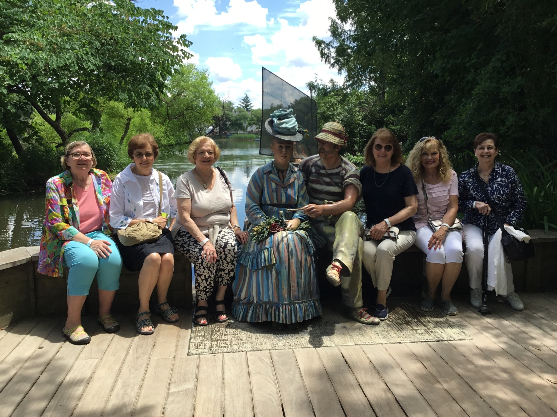 Out To Lunch Bunch and Garden groups dial back the times in NJ Sculpture Gardens - June 2018
