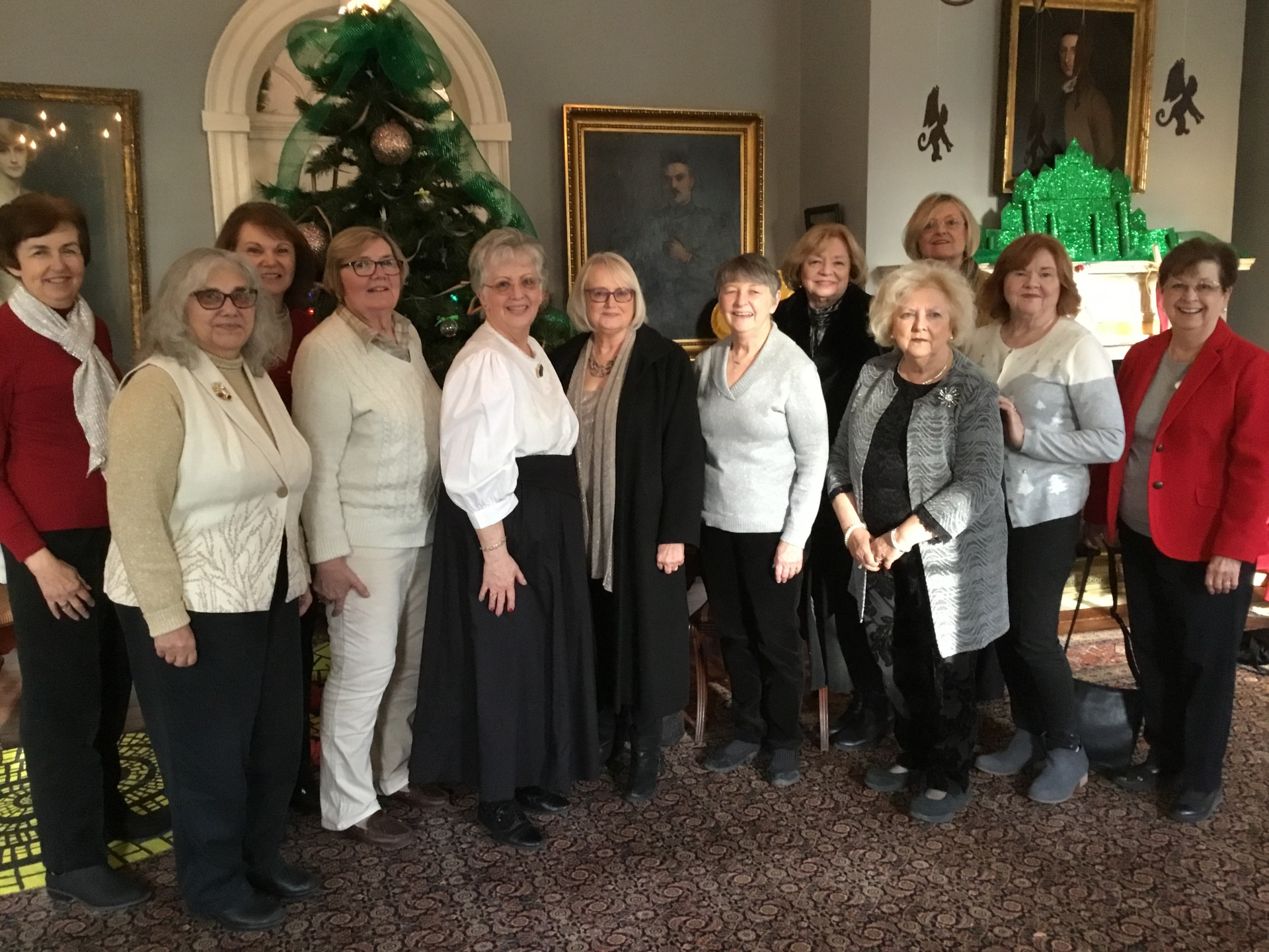 Out To Lunch Bunch attends Christmas Tea and Tours Liberty Hall - Dec. 2018