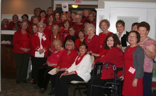 Sparta Woman's Club all in red, celebrates Heart Health Month- Feb 2019
